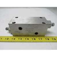 Sun Hydraulics RPGCFAN  2 Piston Relief Valves W/Custom Manifold 7606 01Y Y01