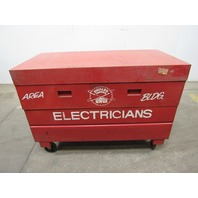 "Dayton 6C696 Rolling Lockable Job Box  Tool Box  Gang Box 60""Lx30""Wx34""D"