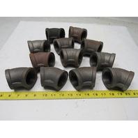Ward 1 1/2 Steel Black Pipe 45° Elbow Lot Of 12