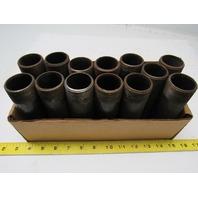 "1-1/4"" X 5-1/2""  Black Steel Pipe Nipple Lot Of 13"