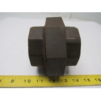 "2-1/2"" Union Black Iron Pipe Female NPT Thread Malleable Fitting"