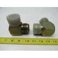 Hydraulic Fitting 90° Union Elbow 1-1/4X 1-1/4 JIC  1-7/8-12 Thread Lot of 2