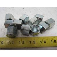 """Hydraulic Fitting 2pc Nut & Cap 1/2"""" -8 JIC (3/4""""-16 Thread ) Lot of 11"""