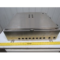 """Saginaw SCE-30H3008SSLP 304 SS Stainless Steel Electrical Enclosure 30""""x30""""x8"""""""