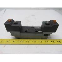Parker  AL43323BKN5300B Double Solenoid Pneumatic Air Valve 150psi max 120V Coil