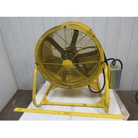 "AEROVENT UM247 Tube Shop Axial Fan 24""Dia 1/2Hp 6 Blade 1725RPM 480V 3Ph"