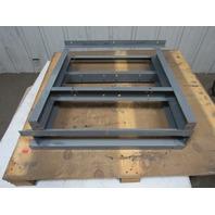 """Heavy Duty Industrial Steel Shop Table Legs Workbench 28-1/4"""" Tall Lot of 2"""