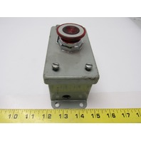 "E1PBSL Electrical Box Enclosure W/ E-Stop Switch 240AC/125VDC 5""X2.5""X2.5"""