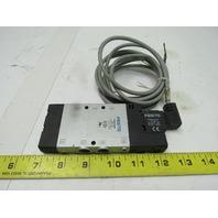 "Festo CPE18-M2H-5L-1/4 Pneumatic Solenoid Valve 99-132V Coil 1/4"" NPT Ports"
