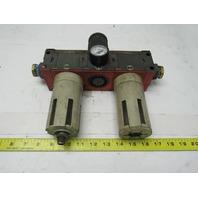 "Metal Works FIL 300 20 Pneumatic Filter Regulator Lubricator 1"" Ports"