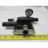 Piab L28F6-TN Mini Vacuum Pump W/Numatics P12B-01G Regulator Filter