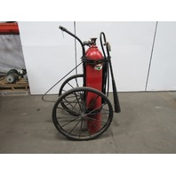 C-O-TWO 100 LB Vintage Wheeled CO2 Charged Fire Extinguisher 25' Hose
