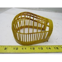 Vintage Yellow Plastic Light Guard Cage Tool Bench/Work/Industrial/Steampunk