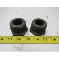 "Forged Steel Reducing Bushing 1-1/2"" MNPT X 1"" FNPT Lot of 2"