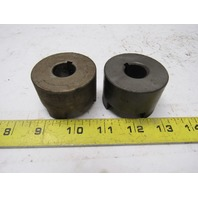 "Martin L095 .750 (3/4"") Bore Coupling Hub Lot of 2"