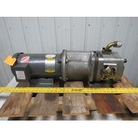 NACHI / BALDOR IPH 5B 13G11 / CM3611T 3HP Hydraulic IP Pump & AC Motor Size 5