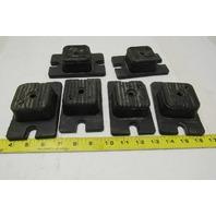 "Korfund Neoprene Molded Vibration Damper Machine Feet Pads 5""x3""x1.5"" Lot Of 6"