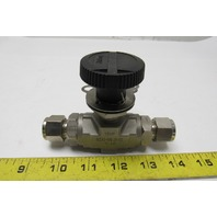 "Parker 8Z(A)-B8LJ2-SS-S-LD 1/2"" Female CPI Fit Tube Stainless Steel Ball Valve"