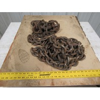 "Branches 2 Leg 1/2"" X 12' Chain Sling WLL20800 Grade 800 W/Grab Hooks"