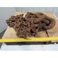"""Branches 7/8"""" X 10' Double Basket Chain Sling WLL88000 Grade 800"""