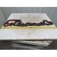"Branches Single Leg 1/2"" X 14' Chain Sling WLL12000 Grade 800 W/Grab Hook"