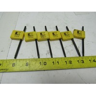 Kennametal FT15-35 Torx Driver T-Handle  Wrench Fastener Tool Lot of 6