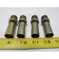 "Eaton Weatherhead 04U 108  Hose Fitting 1/4"" Hose ID 1/2"" Pipe Lot Of 4"