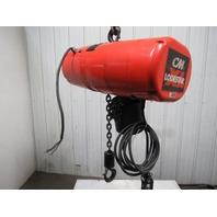 CM 5201H Lodestar XL 2 Ton Electric Chain Hoist 230/460V 15' Lift 18FPM