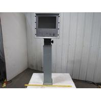 "Swivel Tilt Pedestal Electrical Enclosure Control Box 22x21x12x69-1/2"""