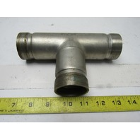 """Victaulic CR304/304L-W-S9 1-1/2"""" Stainless Steel Grooved End Tee Sch.10S"""
