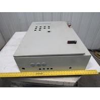 "Hoffman C-DSC36268 Electrical Enclosure 36""x26""x8"" W/Back Plate, 30A Breaker"