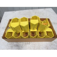 """Metal Column Guard 5"""" for Pallet Rack Frame Yellow Lot of 31"""