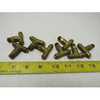"1/8""x 1/8"" Tube/Hose x 1/8"" NPT Push-to-Connect Brass Union Tee Fitting Lot of 8"