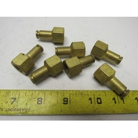 "Brass Air Fitting 1/4"" NPT Female to 1/4"" Air Hose Push to Connect Lot of 7"