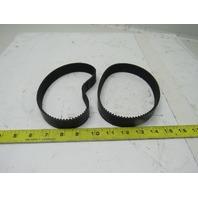 Unitta 475-EV5GT #25 Timing Belt Industrial Rubber Arc teeth Lot of 2