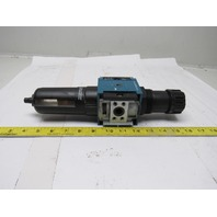 "Rexroth 5351330210 FR C25I Pneumatic Air Filter Regulator 12 Bar MAX 1/2"" NPT"