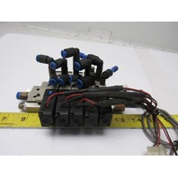 SMC VZ2120 Pressure Operated 5/2 Way Solenoid Op 5 Valve Assembly Block