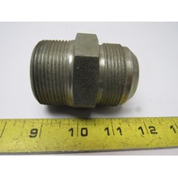 "Male 37 Degree 24 JIC x 1-1/2""NPT Male NPT Steel Adapter Fitting"