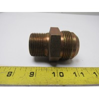 "Male 37 Degree 20 JIC x 1""NPT Male NPT Steel Adapter Fitting"