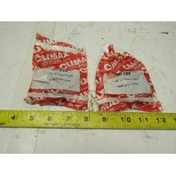 "Climax 1C-125 1-1/4"" ID 1 Piece Split Steel Shaft Clamping Collar Lot of 2"