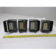 IME 23499 Enclosure Panel Interface Connector w/ GFI Outlet No Lid Lot of 4