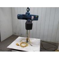 Demag DKUN-10-1000K V1F4 Electric Chain Hoist 2200lb 27' Lift 460V 2 Speed 36FPM