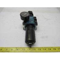 "Rexroth 5351320220 FR C15i Pneumatic Air Filter Regulator 12 Bar MAX 1/2"" NPT"