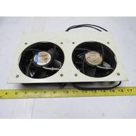 Papst 4606N 115V 50/60Hz Dual Cooling Fan Panel Ventilation
