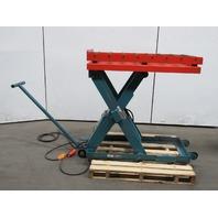 "Advance LP-2536 2500LB Hydraulic Scissor Roller Lift Table 24x48"" 6-1/2-47-1/2 H"