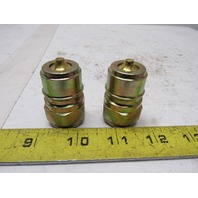 "Tema Rectus T5020V Series T5000 Female 1/2"" 320 BAR Hydraulic Plug Lot Of 2"