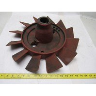 "IWH 17"" Cast Iron Short Blade Fan 1-3/4"" Shaft Vintage Industrial Art Lamp Base"