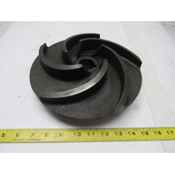 "GPI D25007 10"" 5 Vane Pump Impeller Cast Iron 1-3/8"" Keyed Shaft"