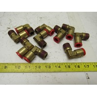 """Nycoil Poly-Matic 1/2"""" Push To Connect x 1/2"""" NPT 90° Brass Elbow Lot Of 10"""