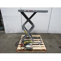 "AMERICAN MFG 1000LB 115/230V 1Ph Scissor Lift Table 39""x25"" Top 7""-55"" Lift"